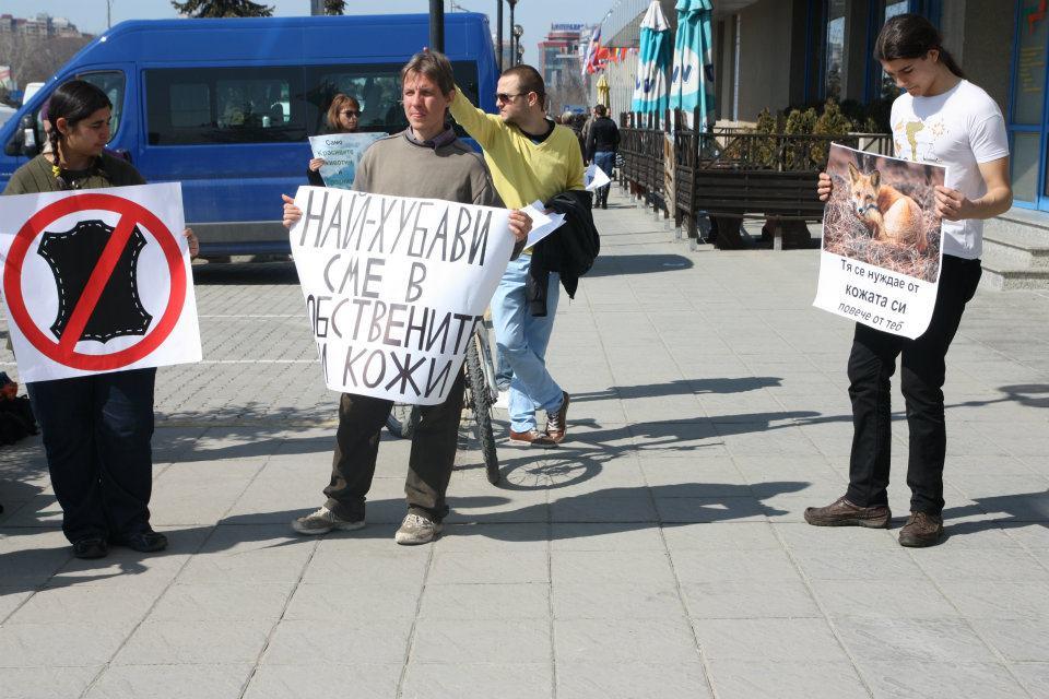 Вие разглеждате изображения от: Снимки от протеста ЗА ЗАЩИТА НА ЖИВОТНИТЕ от кожената индустрия